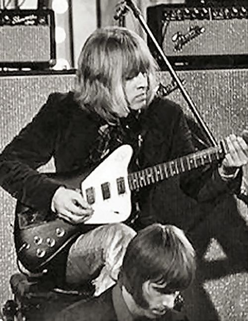 Brian Jones and the session man Nicky Hopkins. Hopkins wrote/played the piano intro on She's A Rainbow.