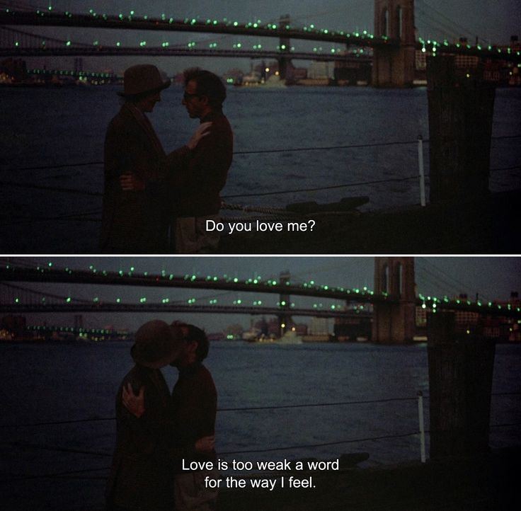 Best Movie Quotes : ― Annie Hall (1977) Annie: Do you love me?Alvy: Love is too weak a word for th…