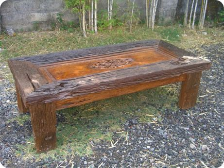 Railroad Tie Coffee Table.
