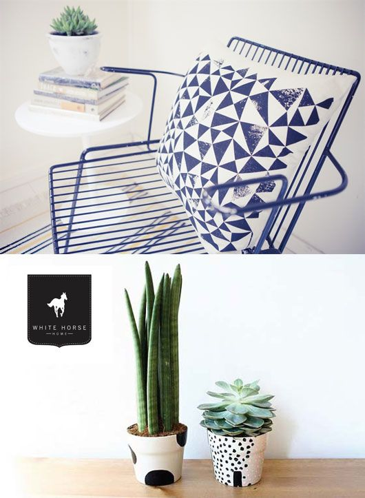 -Graphic Design, Polka Dots, Succulents Can, Black And White, Painting Pots, Dots Pots, Graphics Design, Painting Terra, Cotta Can