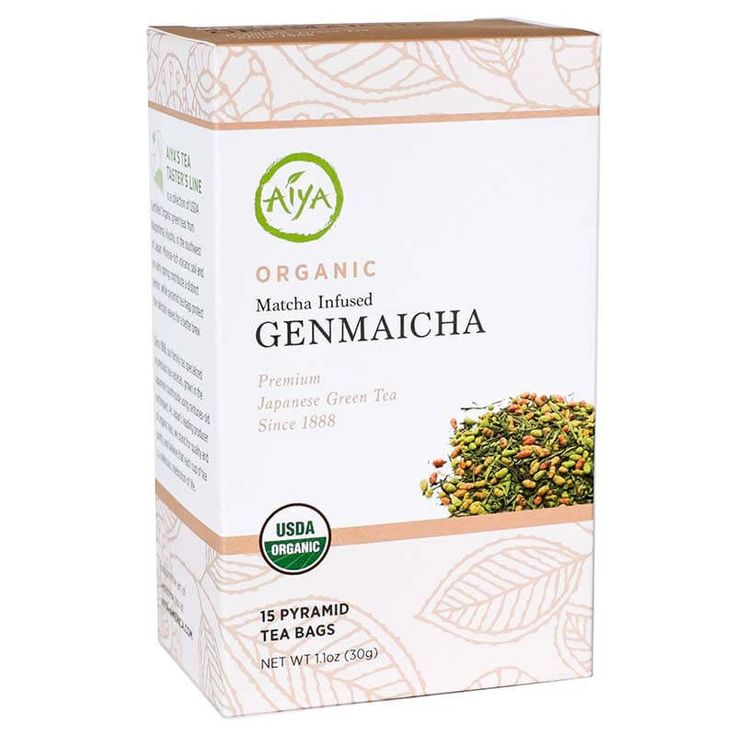 Aiya Organic Matcha Infused Genmaicha - High-grade Genmaicha, with its crisp, bright notes and nutty toasted brown rice, is enveloped in sweet, earthy Matcha for a wholesome, well-rounded impression.