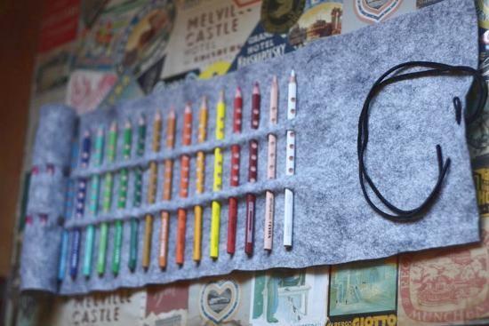 Estuche o funda portalápices DIY de fieltro sin costuras