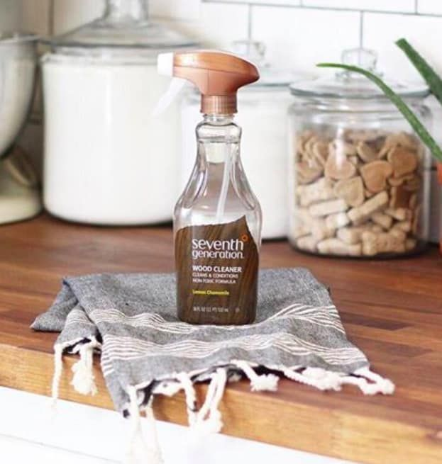 """Promising review: """"My old wood loves this! I couldn't believe how much grime it removed from the banister, and left behind NO residue. It does not shine the wood, which is my preference, but it brings out the natural grain. This is really easy to use and has a nice, pleasant scent."""" —Kathos Get it from Amazon for $9.60 or Jet for $5.24."""