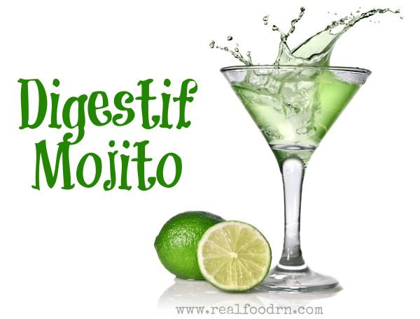Digestif Mojito, great drink for after your meal to help your digestion.