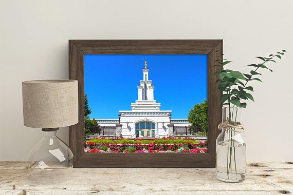 The Columbia River Washington LDS Temple // You get 5 sizes //