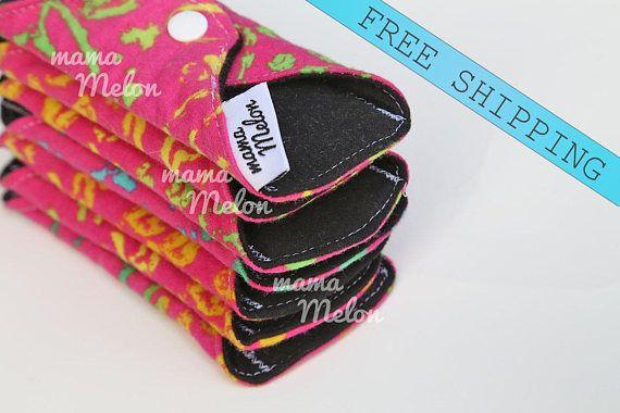 2 7 Cloth Pads Light/ Regular/ or Heavy Flow Menstrual