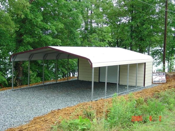 A Three Carport with Storage Shed Attached (With images