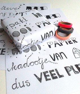 Free printable cadeau papier met eigen Sinterklaas gedicht
