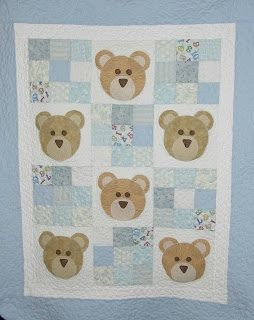 Colcha de osos en azul