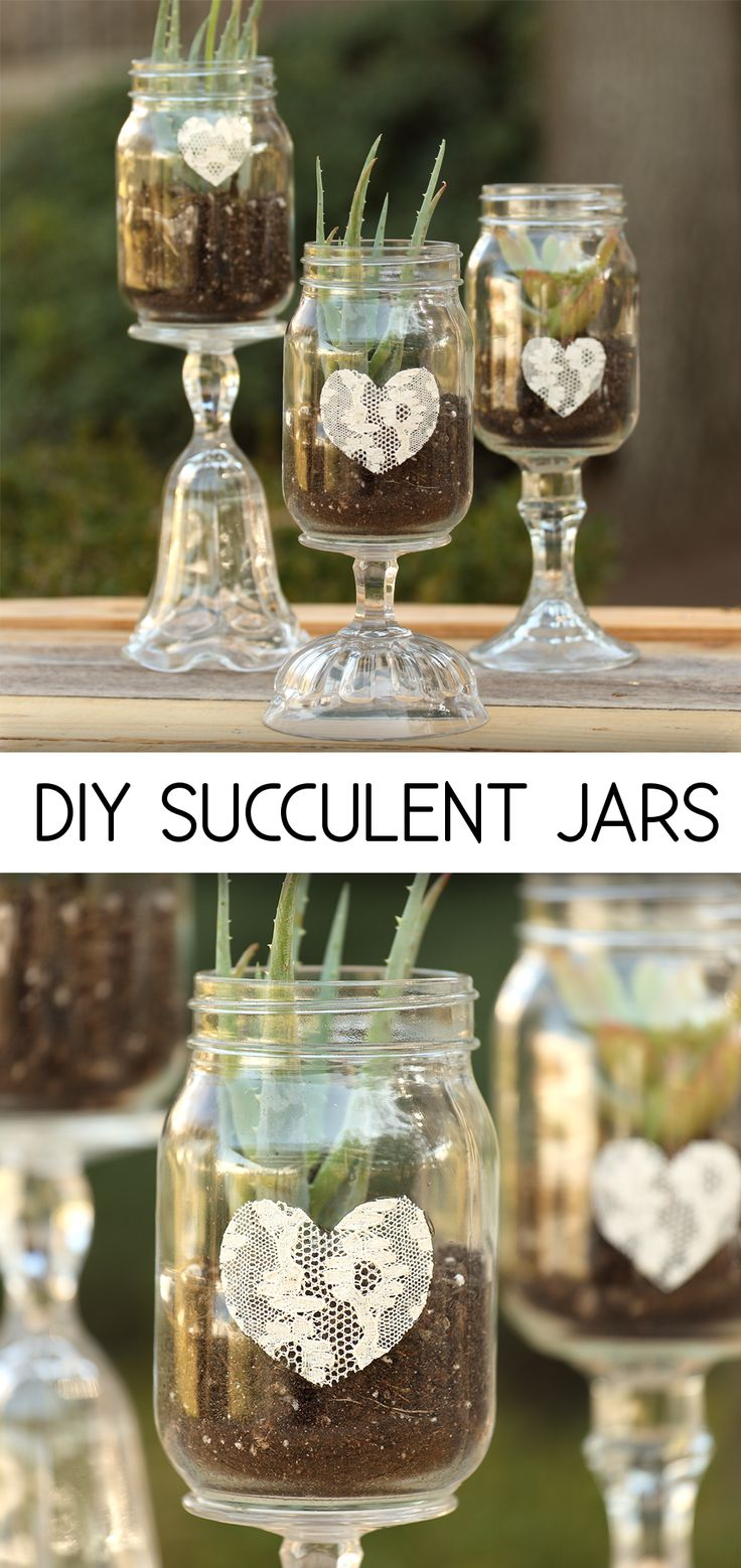 Give an ordinary canning jar heightened status by adhering it to an ornate  candlestick or sundae jar.