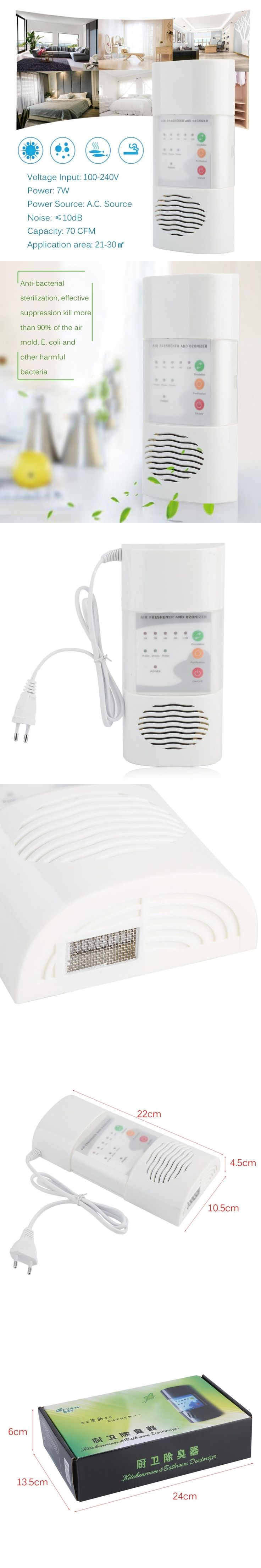 Ship from RU Ozone Generator Air Purifier 220V 100mg/h Air Cleaner Oxygen Ionizer Generator Germicidal Filter Disinfection Clean