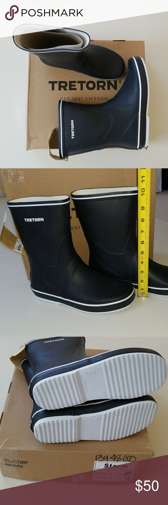 NWT Really Cute & Comfy Rubber Boots New rubber boots great for rain or snow. Soft rubber and  bendable so it's comfortable and won't crease. Velvety lining inside and cushy footbed for added comfort. Tretorn Shoes Winter & Rain Boots