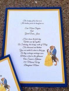 Beauty And The Beast Wedding Invitations |  Http://simpleweddingstuff.blogspot.com
