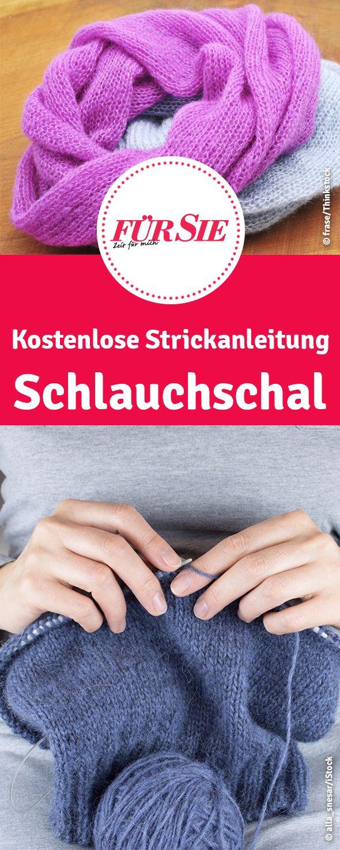 kostenlose Strickanleitung: Schlauchschal selber stricken - kostenloses Strickmuster