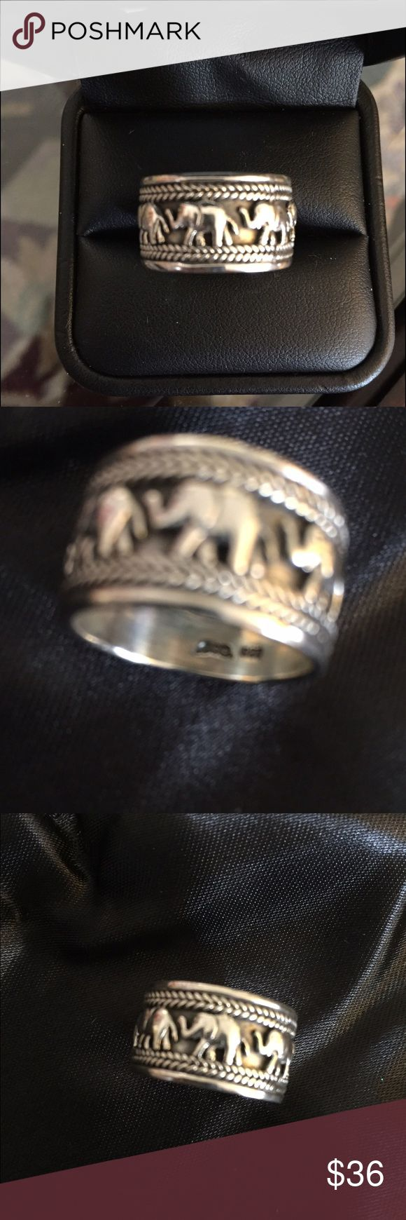 Sterling Silver Elephant Ring Cute little ring marked .925 was in a old pawn lot i purchased. No lowball offers will be accepted. Jewelry Rings