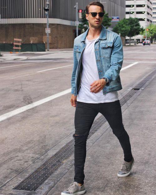 2016-04-20のファッションスナップ。着用アイテム・キーワードはサングラス, スニーカー, 無地Tシャツ, 白Tシャツ, 黒パンツ, Gジャン・デニムジャケット, Tシャツ,etc. 理想の着こなし・コーディネートがきっとここに。| No:143769