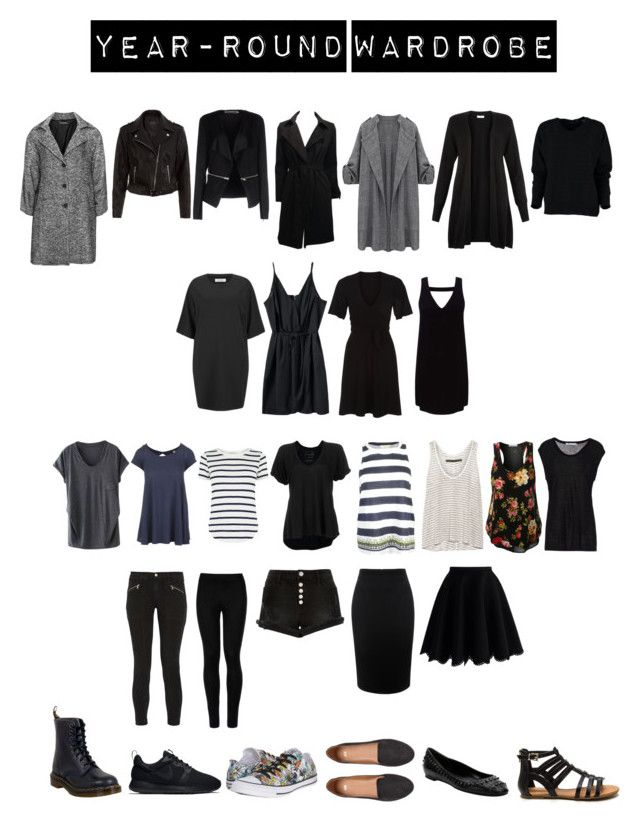 """Year-round Capsule Wardrobe 30"" by toukotakku on Polyvore featuring Verpass, New Look, Noisy May, WithChic, The Row, Oasis, Free People, J Brand, River Island and Miss Selfridge"