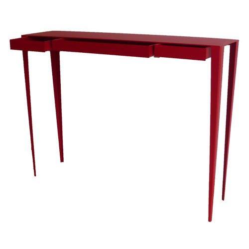 Grande Soeur Gm - Console Tiroirs Fm Et B Rouge - table haute