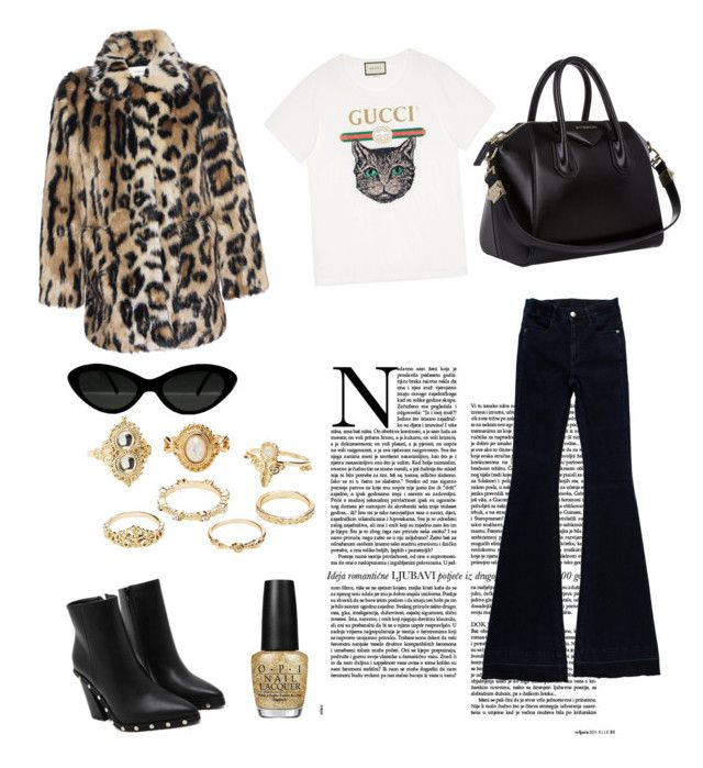 Casual af by idahedbom on Polyvore featuring polyvore, fashion, style, Gucci, Stand, STELLA McCARTNEY, Givenchy, Charlotte Russe, OPI and clothing