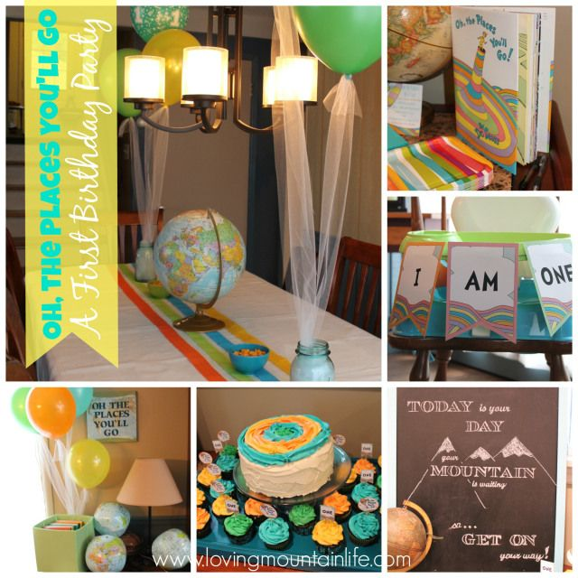 Oh The Places You 39 Ll Go First Birthday Party Idea