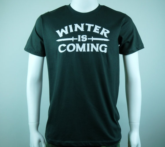 Winter Is Coming shirt Game Of Thrones inspired t shirt by LOLTEES, $16.00