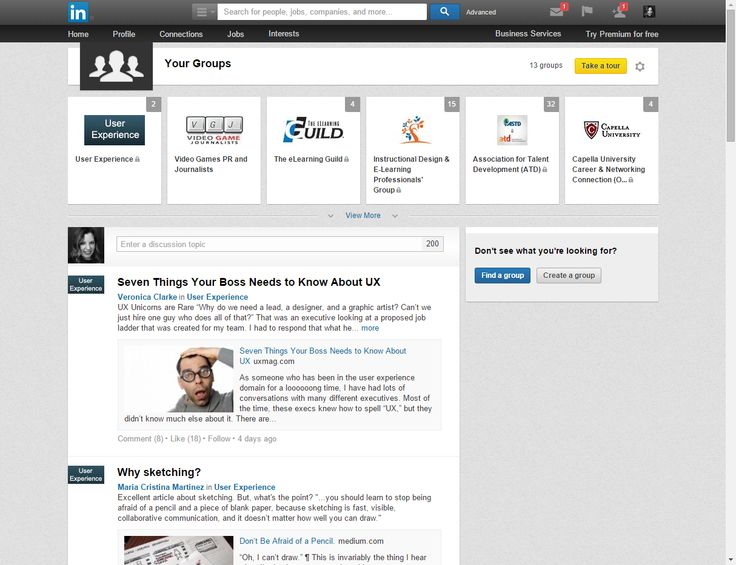 Provides orientation for users and a clear hierarchy of information on the page. Example from LinkedIn * Suggested by Tom B.