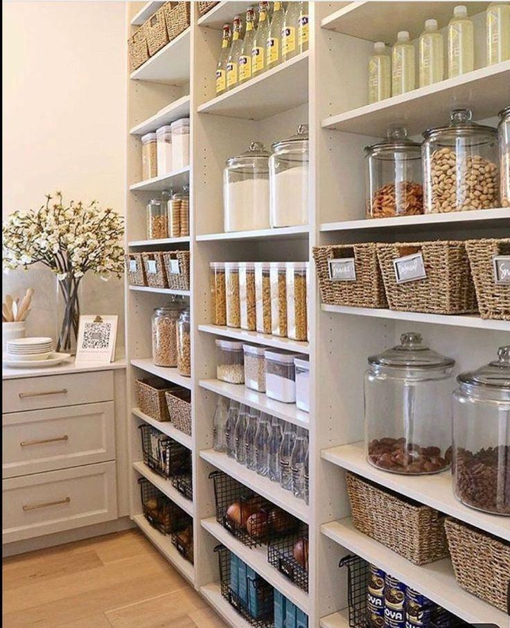 20 Clever Pantry Organization Ideas Wonder Cottage In 2020 Pantry Design Pantry Room Diy Kitchen Storage