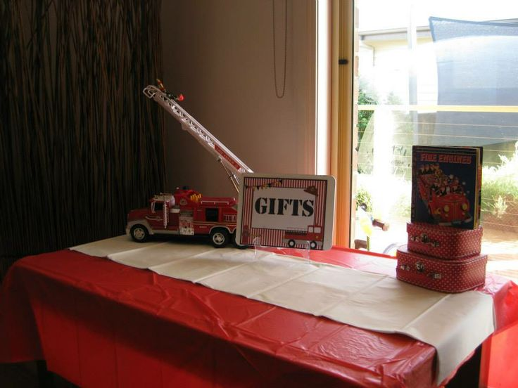Fire Engine Gift Table