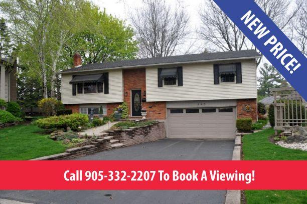 Price reduction at 943 Nora Drive in Aldershot, Burlington. http://walshandvolk.com/943-nora-drive-burlington/