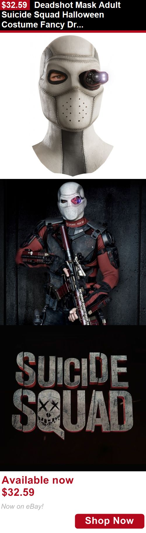 Costumes and reenactment attire: Deadshot Mask Adult Suicide Squad Halloween Costume Fancy Dress BUY IT NOW ONLY: $32.59