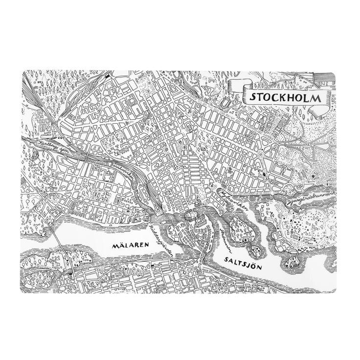 Underlägg Stockholmskartan Mjukt | Svenskt Tenn