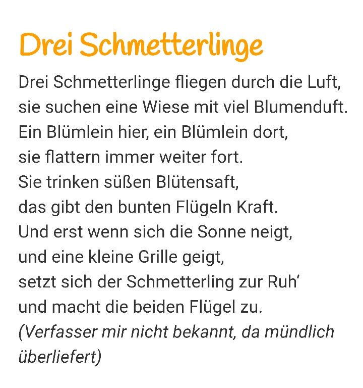 schmetterling gedicht kita pinterest fingerspiele gedicht und schmetterlinge. Black Bedroom Furniture Sets. Home Design Ideas