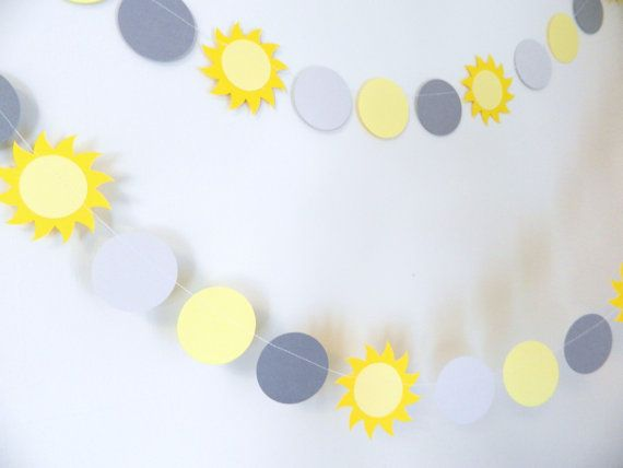 You are My Sunshine Decor - Baby Shower Decor - Paper garland - Birthday Decorations - Custom colors available