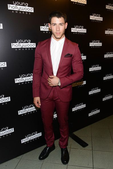 Nick Jonas at Young Hollywood Awards- They're aren't many guys that can pull off color suits but he did it magnificently