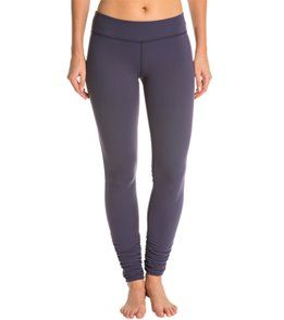 Beyond Yoga Women's Essential Gathered Yoga Leggings - True Navy - L