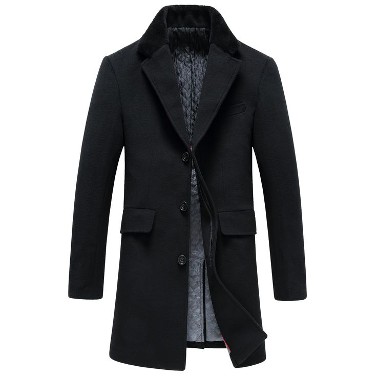 Woolen Overcoat for Men Fashion Wool Overcoat Business Dress Simple Style Superior Quality Men's Wool Jacket Jacket Gent Life //Price: $US $93.45 & FREE Shipping //