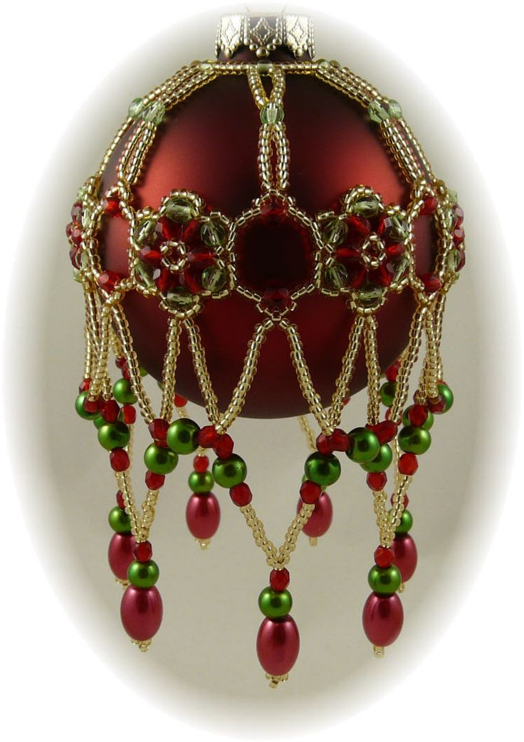 Best xmas pattern beaded balls images on pinterest