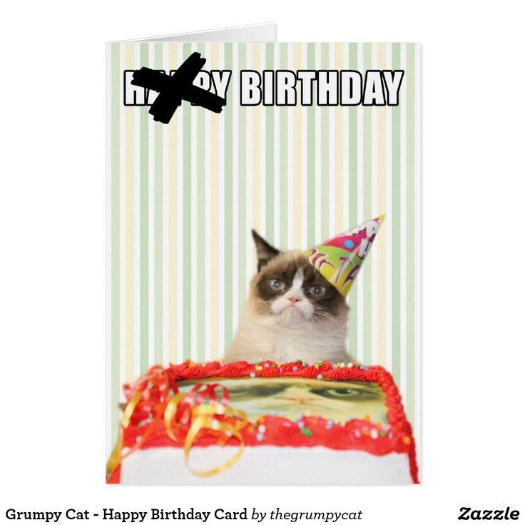 Gato gruñón - tarjeta de (in)feliz cumpleaños