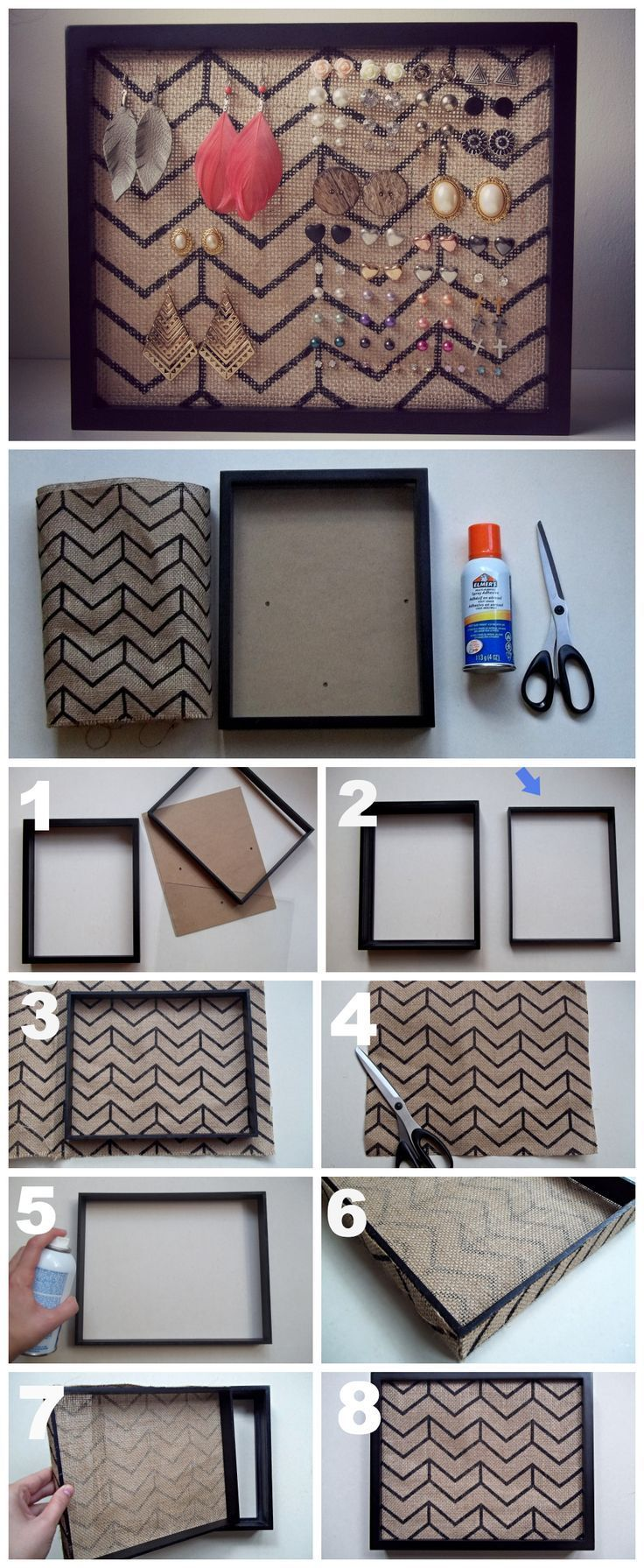 DIY Earring Holder Tutirial Pictures, Photos, and Images for Facebook, Tumblr…