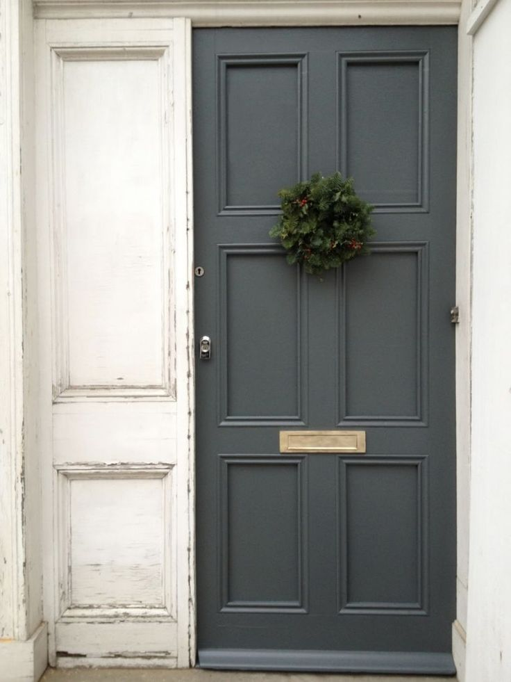 Cool 31 Painted Exterior Door Ideas with Gray Colors. More at http://trendecor.co/2017/11/15/31-painted-exterior-door-ideas-gray-colors/