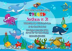 invitation card for boys