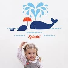 Whale nursery decal