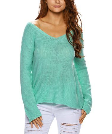 9e0d9007c This Green Scoop Neck Sweater - Women is perfect!  zulilyfinds