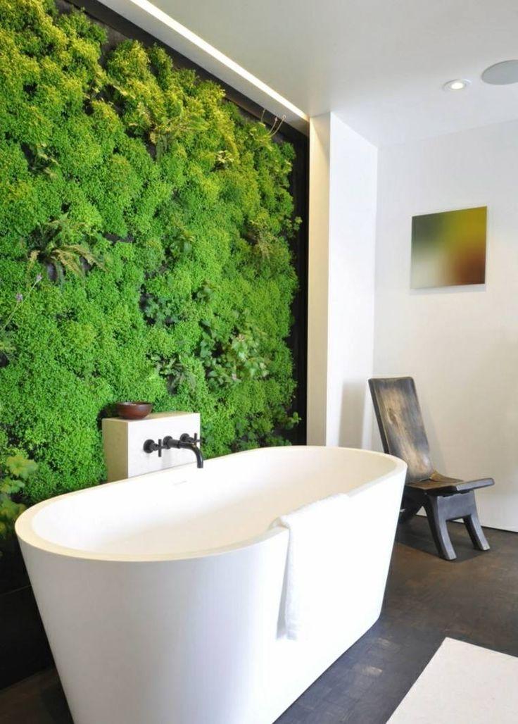 298 best Salle de bain images on Pinterest Bathroom, Bathrooms and - Stratifie Mural Salle De Bain