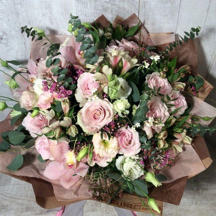 Необычный букет маме, цветы