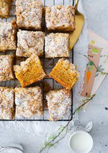 Rezept für Streusel-Möhrenkuchen – Carrot Cake und Streuselkuchen in einem