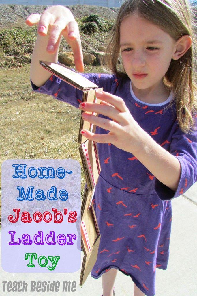 Homemade Jacob S Ladder Toy Kids Crafts Bible Crafts