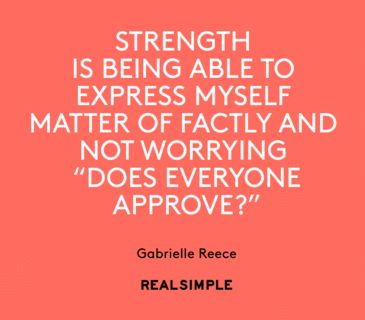 Inspiring words from Gabrielle Reece.