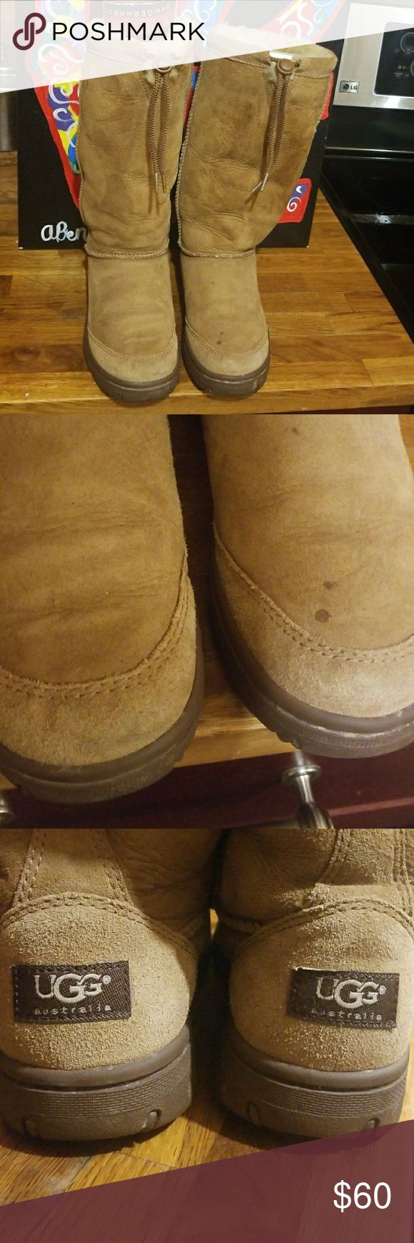 Authentic Original UGG BOOTS .SIZE 7 🍋🍋THESE BOOTS WILL LAST 4EVA...Super warm thick uggs ..heavy duty SOLES. Hardly worn by my sister . SHE GOT THEM LAST XMAS..from Glammom...But she wanted PINK UGGS ..SO SHE ONLY WORE A FEW TIMES ..WHEN SHE WENT TO VISIT  HER🙄 UGG Shoes