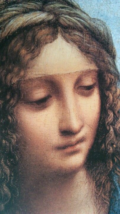 Madonna with the Yarnwinder - La Madonna dei Fusi - Detail - Leonardo da Vinci